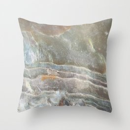 Stormy day abalone Throw Pillow