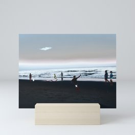 Childhood and the Beach Mini Art Print