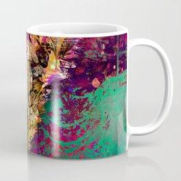 359 17 Gold Wheat Stalk on Pink and Aqua Coffee Mug