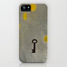 Key #2 (Grey Space, Yellow Stars) Slim Case iPhone (5, 5s)