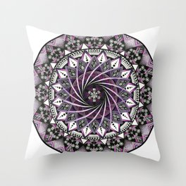 Sahasrara. Crown chakra mandala Throw Pillow