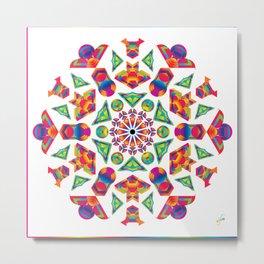 Prismatic Kaleidoscopicism Metal Print