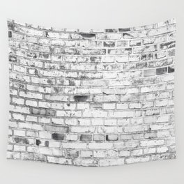 Withe brick wall Wall Tapestry