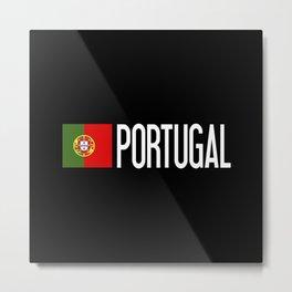 Portugal: Portuguese Flag & Portugal Metal Print