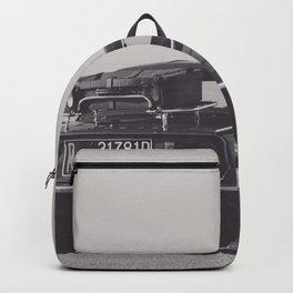 Supercar details, british triumph spitfire, black & white, high quality fine art print, classic car Backpack