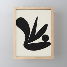 Black and White Abstract Shapes #6 Framed Mini Art Print