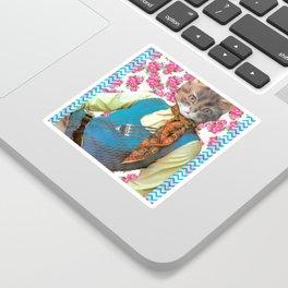 Din Dins handcut collage Sticker