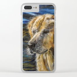 One Wet Golden Retriever by Teresa Thompson Clear iPhone Case