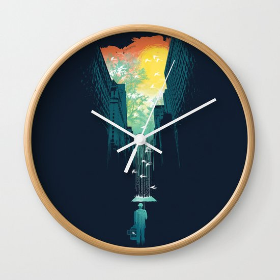 I Want My Blue Sky Wall Clock