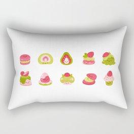 Strawberry Matcha Rectangular Pillow