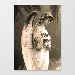 Savannah Cemetary Canvas Print