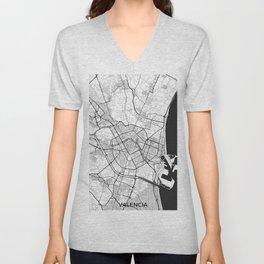 Valencia Map Gray Unisex V-Neck