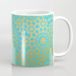 Moroccan Nights - Gold Teal Mandala Pattern 1 - Mix & Match with Simplicity of Life Coffee Mug
