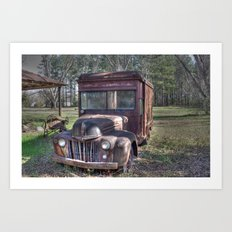 Old Railway Express Agency Truck Art Print