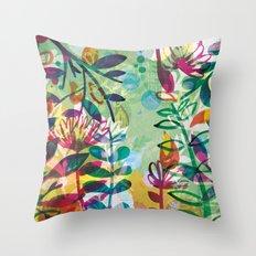 Bloom like a Flower Throw Pillow