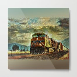Observance Valley Freight Line Metal Print
