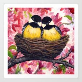 Chickadees Art Print