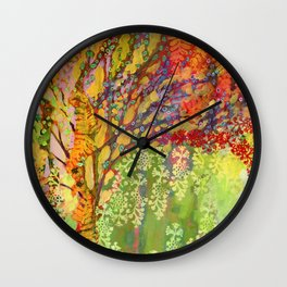 Immersed in Summer Wall Clock