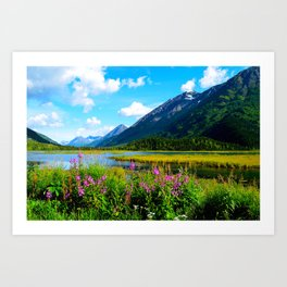 God's Country - Summer in Alaska Art Print