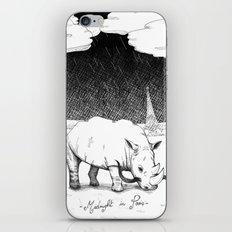 Rhino during Midnight in Paris iPhone & iPod Skin