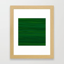 Emerald Green Stripes Abstract Framed Art Print
