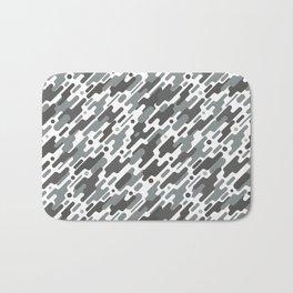 Modern Camouflge Grey Army Pattern Bath Mat