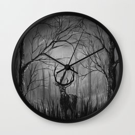 The Deer B+W Wall Clock