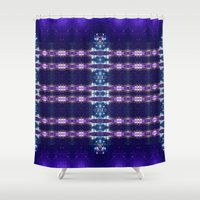night sky Shower Curtains featuring Night sky by Gun Alfsdotter