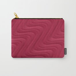 Crimson Waves Carry-All Pouch