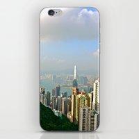 hong kong iPhone & iPod Skins featuring Hong Kong by Madison Genevieve