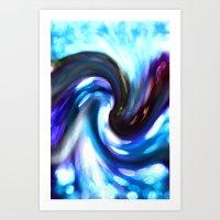 blurry colour spiral Art Print