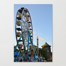 The Flower Market Ferris Wheel Canvas Print