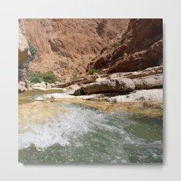 Wadi Shab Tiwi Oman Metal Print
