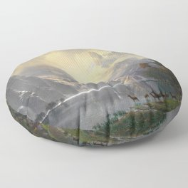 Among the Sierra Nevada California by Albert Bierstadt, 1868 Floor Pillow
