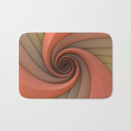 Spiral in Earth Tones Bath Mat