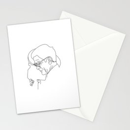 Pier Paolo Pasolini minimal line drawing Stationery Cards