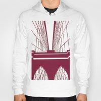 brooklyn bridge Hoodies featuring Brooklyn Bridge by Melinda Zoephel