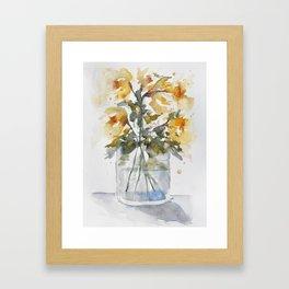 Essence of Daffodil in Watercolor Framed Art Print