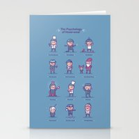 psychology Stationery Cards featuring Psychology of headwear by Randyotter