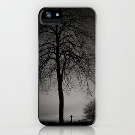 silhouette at Durham Cathedral iPhone Case