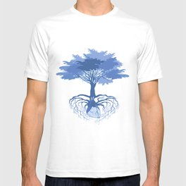 Heart Tree - Blue T-shirt