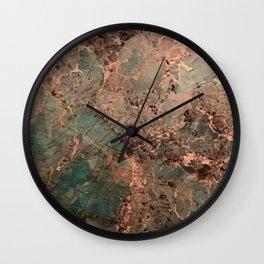 Marble Emerald Copper Blue Green Wall Clock