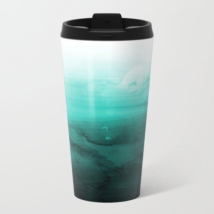 Green Lagoon Metal Travel Mug