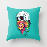 hipster Throw Pillows featuring Hipster by Steven Toang