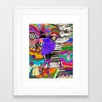 mercedes Framed Art Prints featuring Merci Mercedes by jennifer pick