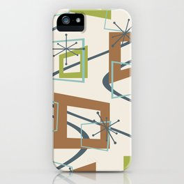 Mid Century Modern Minimalism iPhone Case
