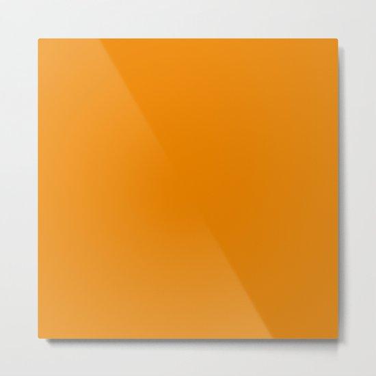 Simply Tangerine Orange Metal Print
