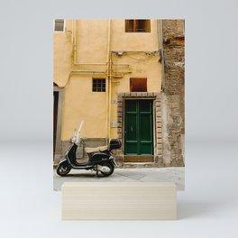 Italian Scooter in Lucca, Tuscany Mini Art Print