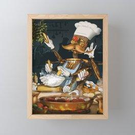 Robot Chef Framed Mini Art Print