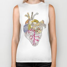 my heart is real Biker Tank